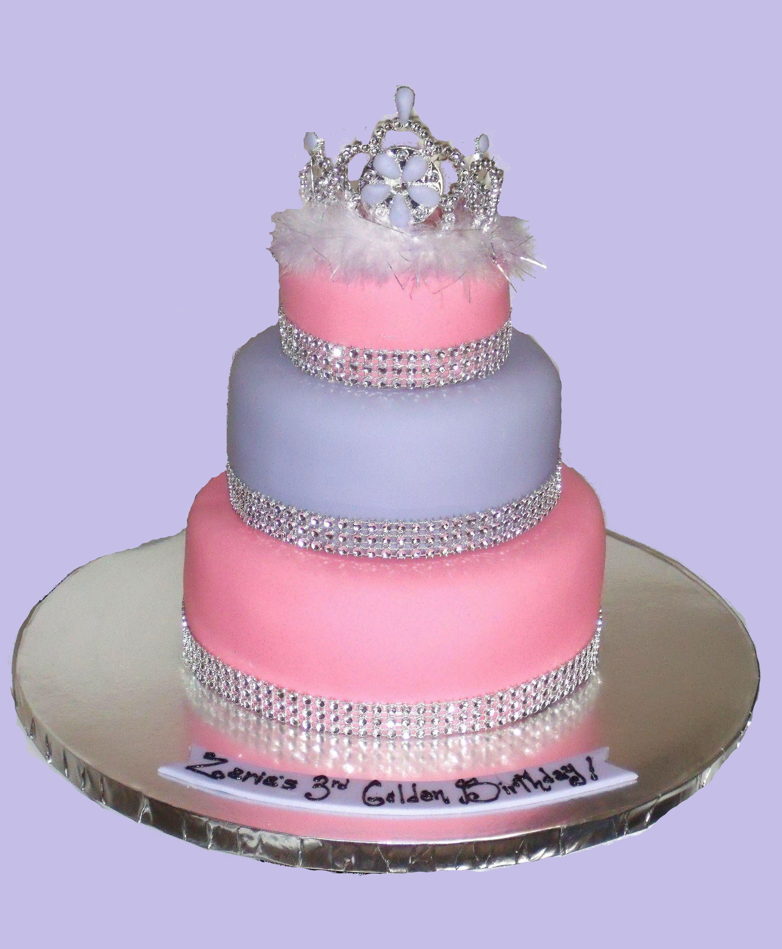 3 Tier Pincess Tiara Cake