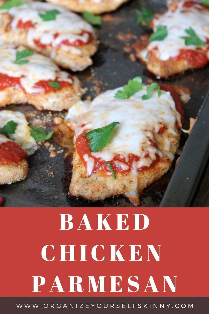Baked Chicken Parmesan Recipe Delicious Chicken Parmesan Recipe Healthy Food Recipes Clean Eating Baked Chicken Parmesan