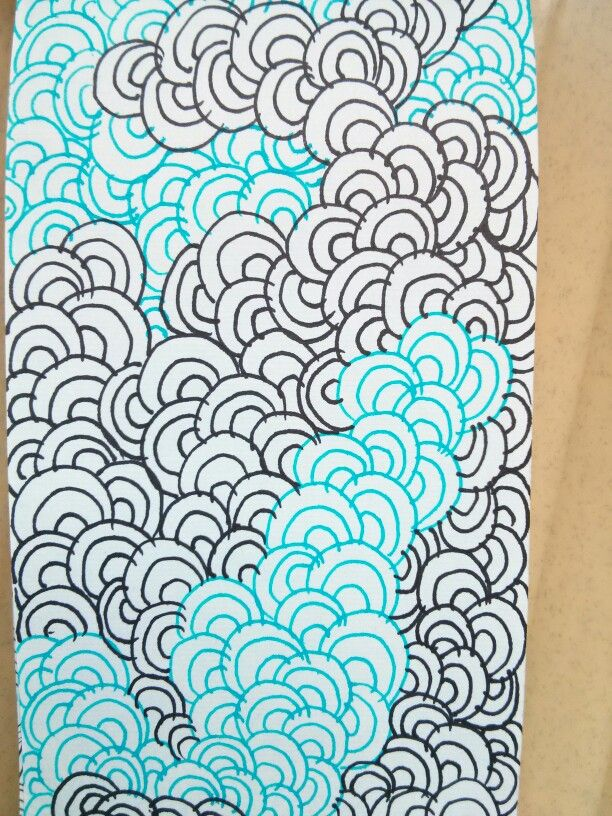 Zentangle One Pattern With Different Color Gel Pens Markers