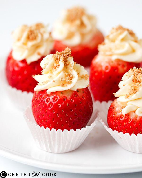 recipe: cheesecake stuffed strawberries pinterest [19]