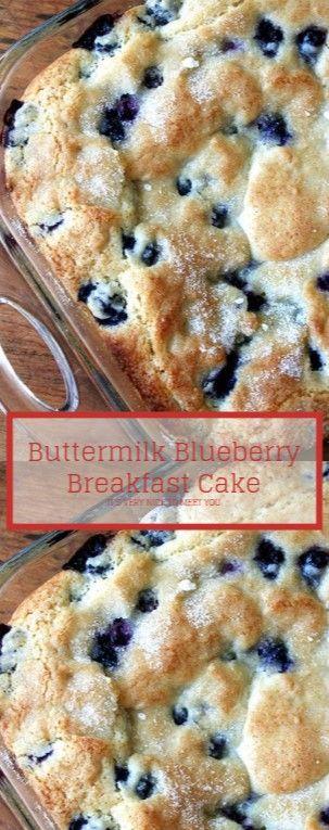 Buttermilk Blueberry Breakfast Cake | Easy Kraft Recipes #buttermilkblueberrybreakfastcake