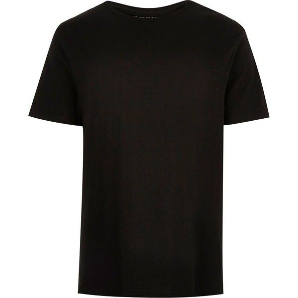 Black plain short sleeve t-shirt ( 11) ❤ liked on Polyvore featuring men s  fashion 4be14964131