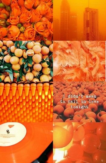 Orange Aesthetic by rocket.cheer.althea - #BeFunky