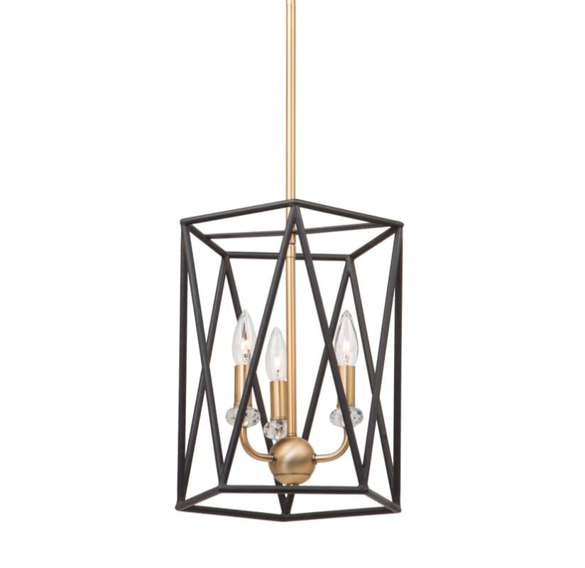 Artcraft Lighting Ac11031 Black Satin Brass Harmony 3 Light 14 Wide Cage Chandelier With Crystal Accents In 2020 Artcraft Lighting Cage Chandelier Lighting