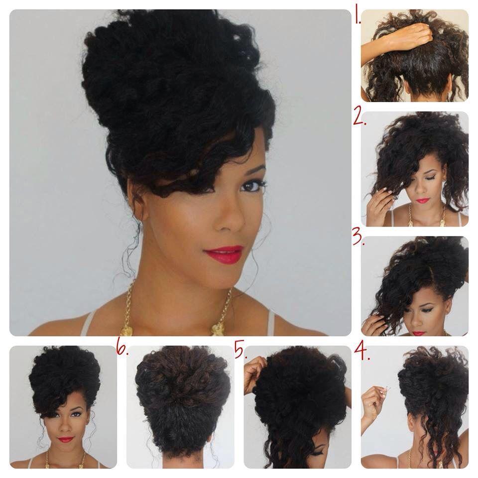 Peinado para pelo rizo   Cabello   Pinterest   Natural, Curly and ...