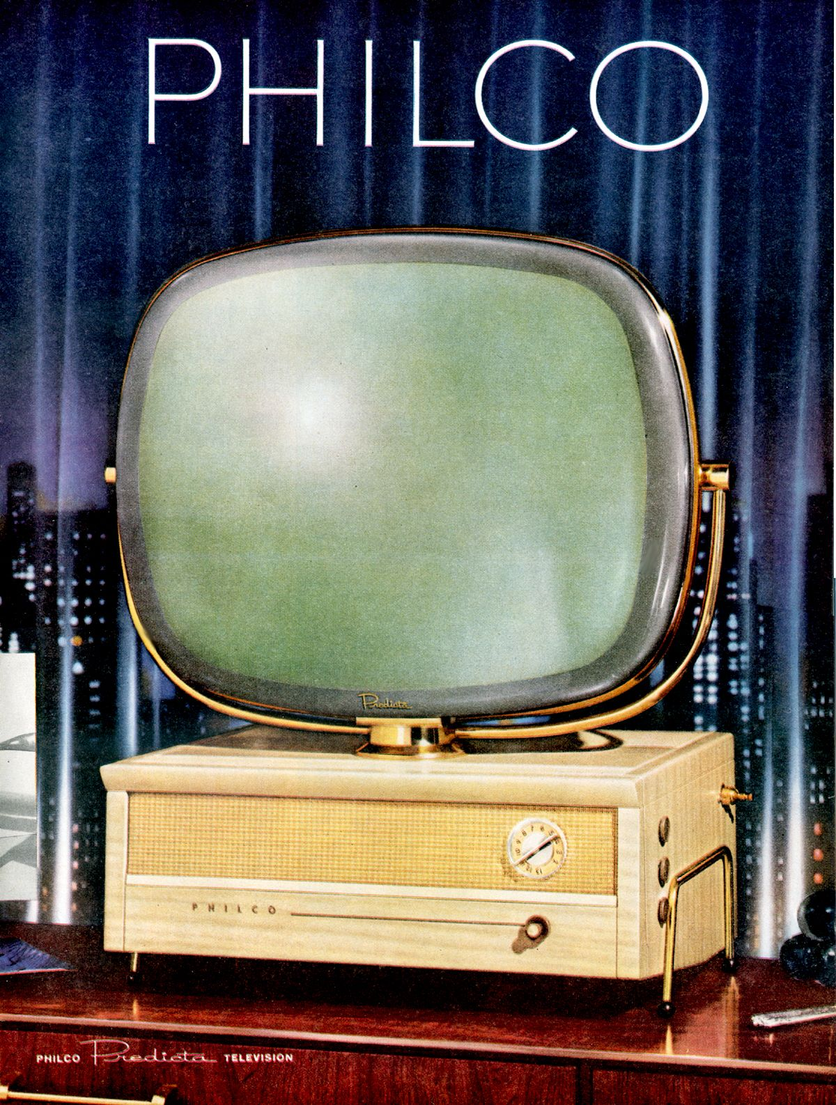 CLASSIC KITSCH TV Advertisement Mid-Century Poster Mad M Retro Television Ad