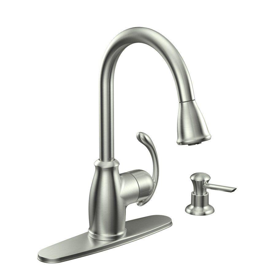 Shop Moen Terrace Spot Resist Stainless 1-Handle Sink/Counter Mount ...