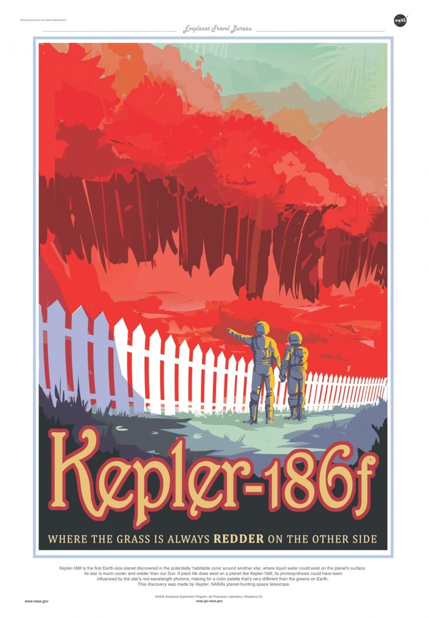 Nasa produces vintage travel posters for newly discovered planets | Travel | The Guardian