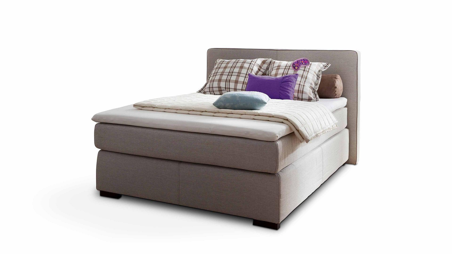 Schlafzimmer Modern Braun Boxspringbett | Das Frohliche M Saarlouis Raume Schlafzimmer Boxspringbett Mit