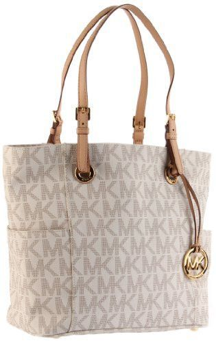 Brand: Michael Kors Color: Vanilla Features: - Boost your signature look  with this glam Michael Kors? tote and you can\u0027t go wrong! - Tote-style shoulder  bag ...