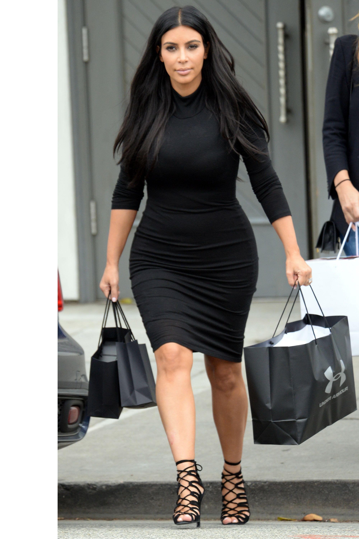 Black dress kim kardashian 09