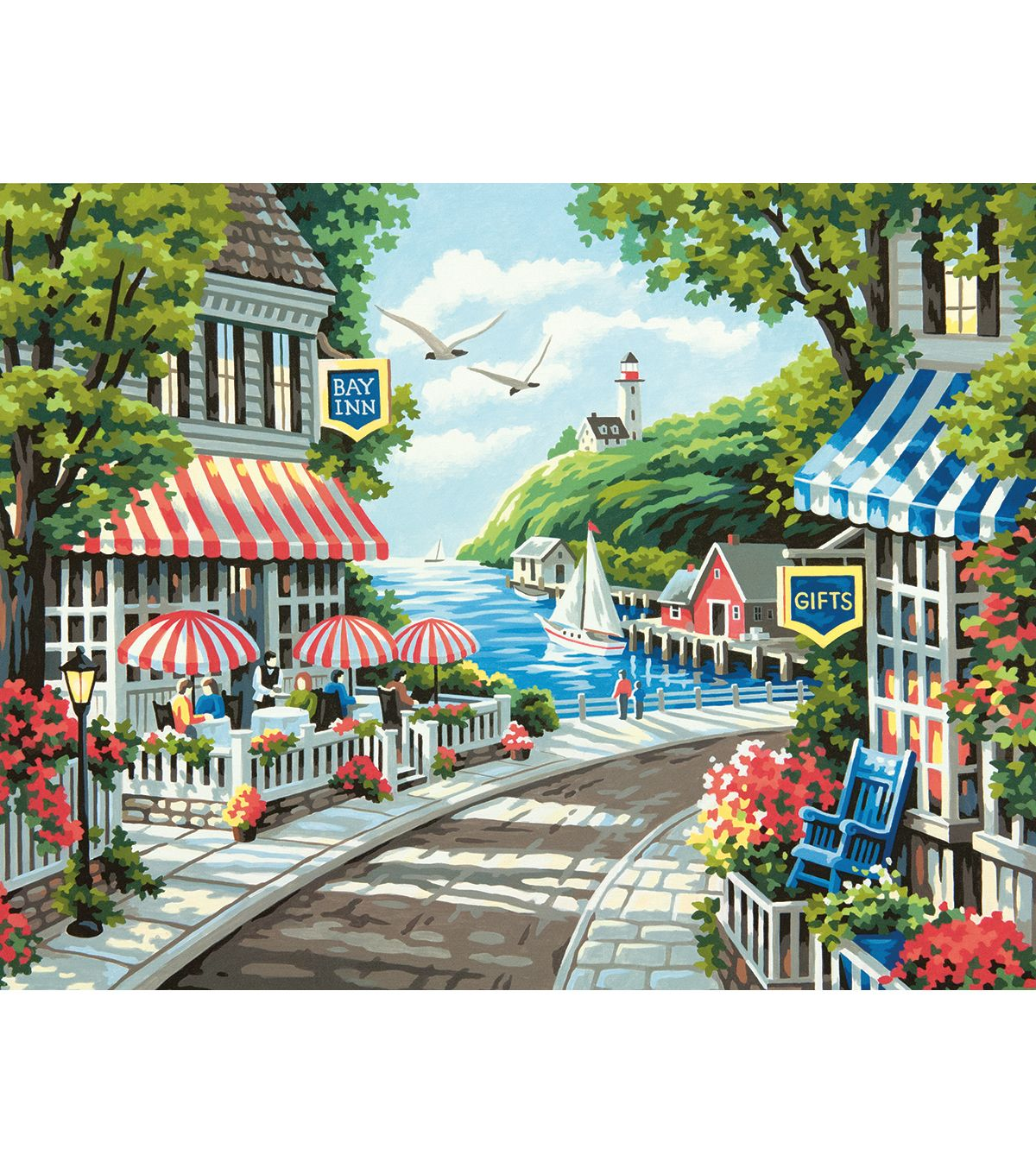 Dimensions Needlecrafts Cafe By The Sea Counted Cross Stitch Kit