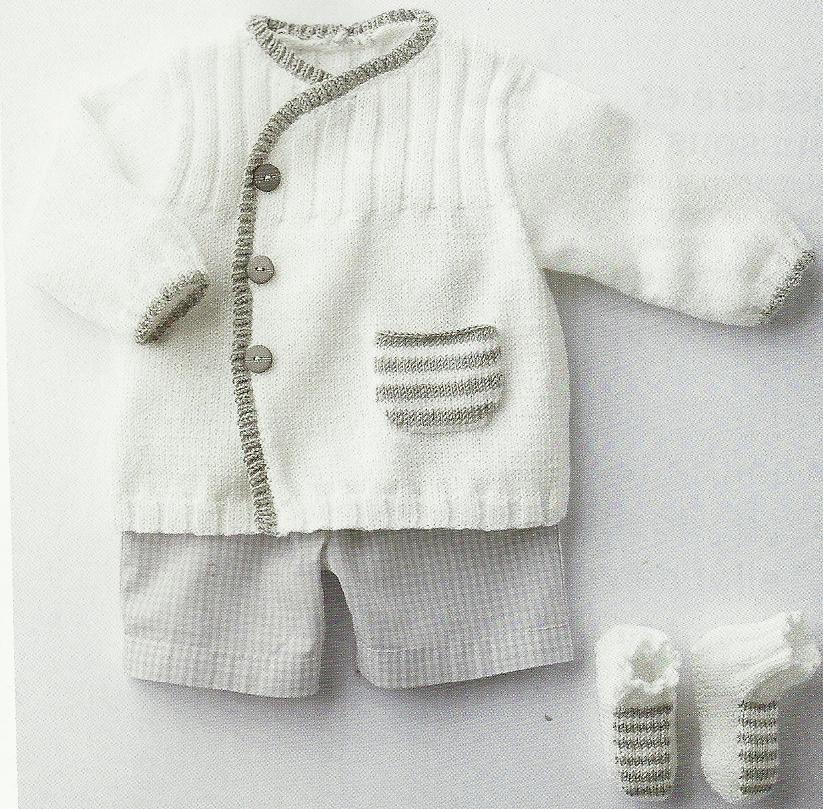 patron tricot layette naissance gratuit