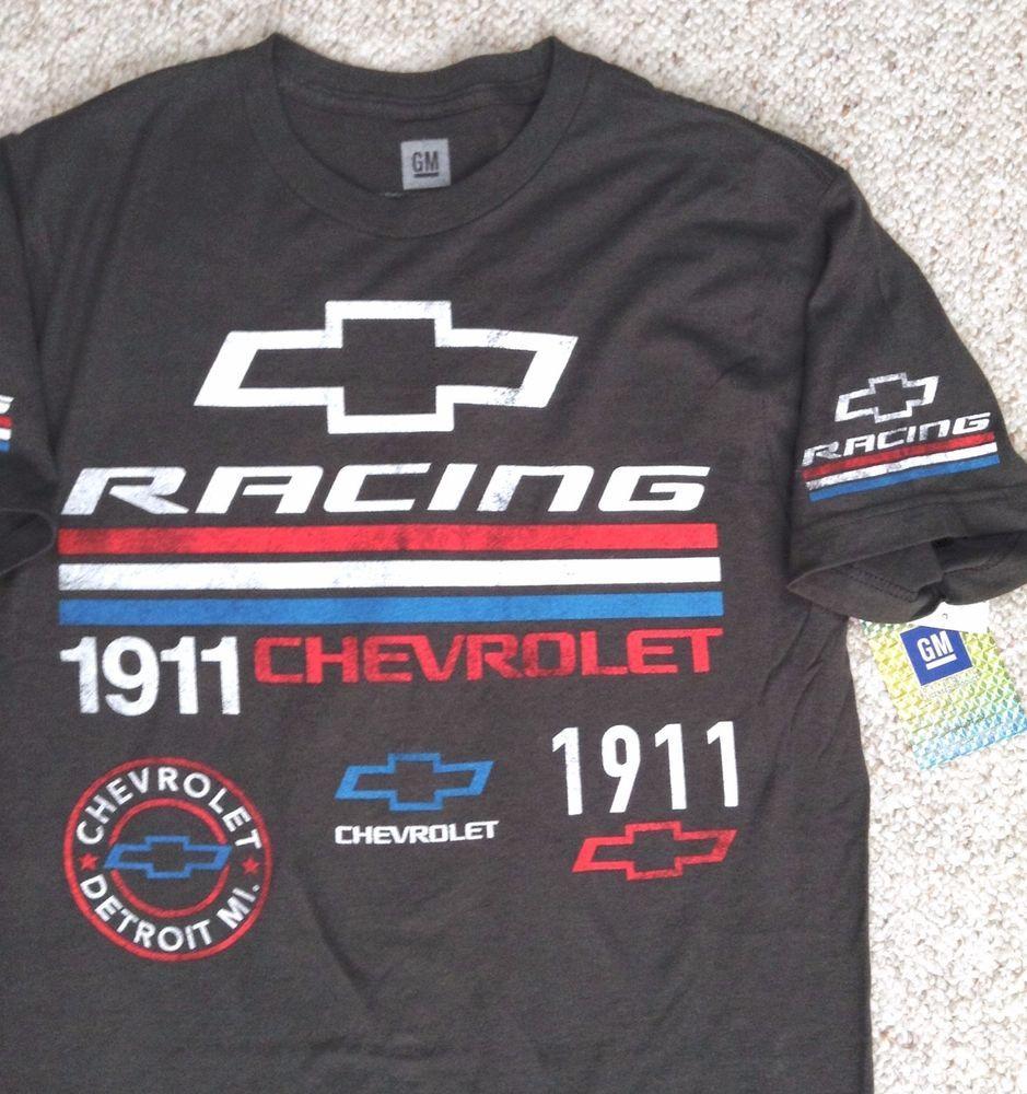 T shirt whitesnake - Chevrolet Racing 1911 T Shirt Dark Gray Red White Blue Chevy Car Truck Mens Med