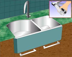 caulk the kitchen sink sinks kitchens and household. Black Bedroom Furniture Sets. Home Design Ideas