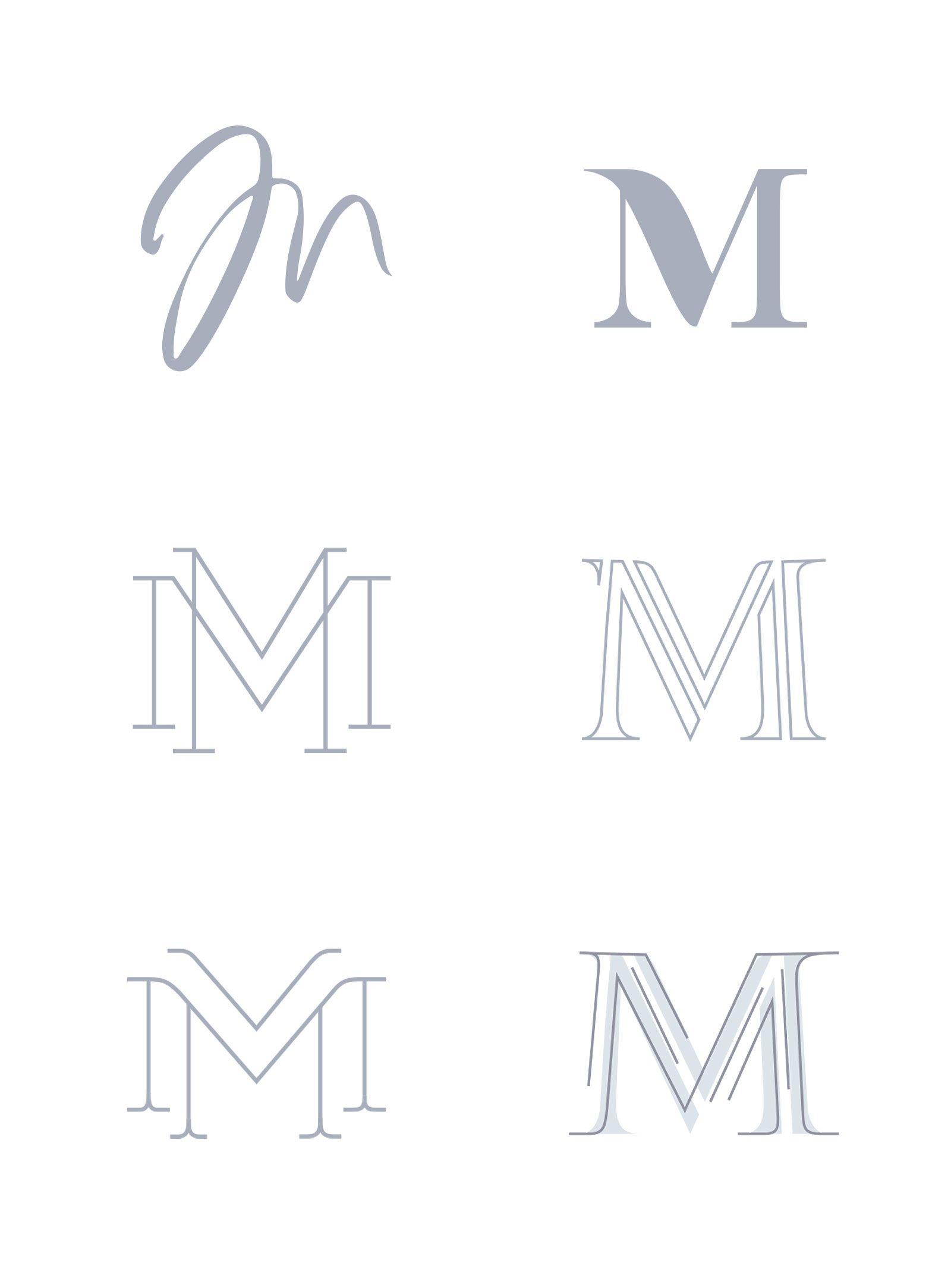 NEW IN PORTFOLIO M LOVES M REBRAND Typography logo
