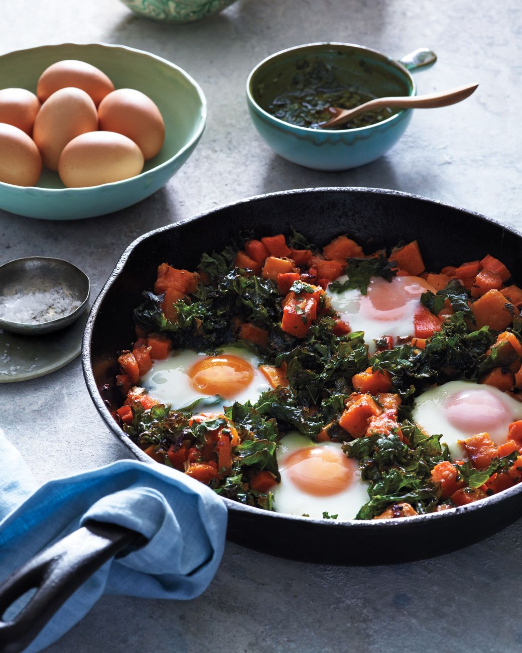 Photo of Squash Hash with Kale and Baked Eggs