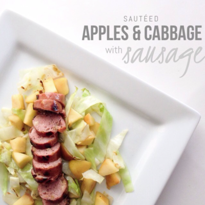 Apple, cabbage and Sausage