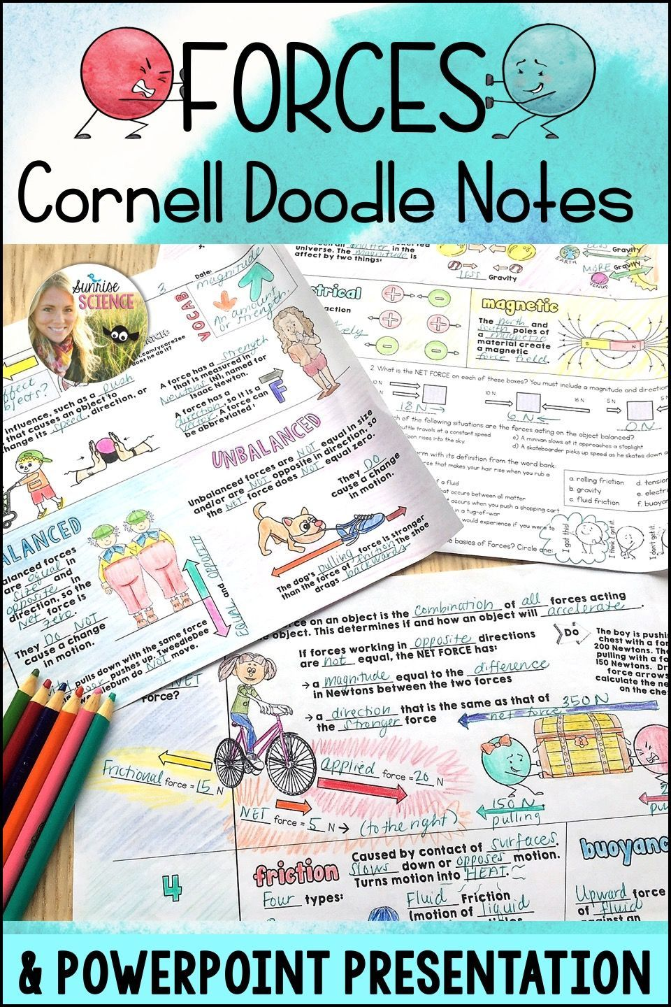 Forces Cornell Doodle Notes Distance Learning In 2020 Doodle Notes Science Teaching Resources Middle School Physics