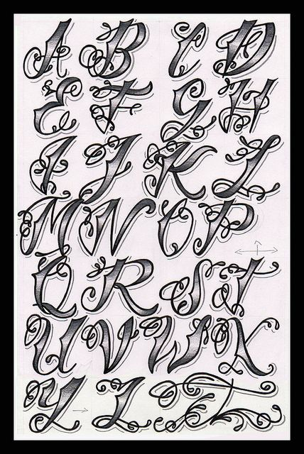 tattoo lettering | Make Your Mark | Pinterest