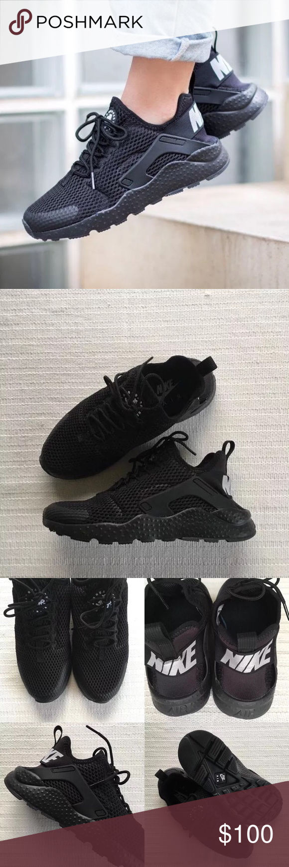 cheap for discount 0bee0 3a52b Women s Nike Air Huarache Run Ultra Breathe Black Women s Nike Air Huarache  Run Ultra Breathe Black Style Color  833292-001   Women s size 8   NEW in  box ...