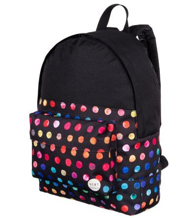 861b6e777 Roxy Sugar Baby School Backpack in Gypsy Dots Be seen in a crowd with this  brightly