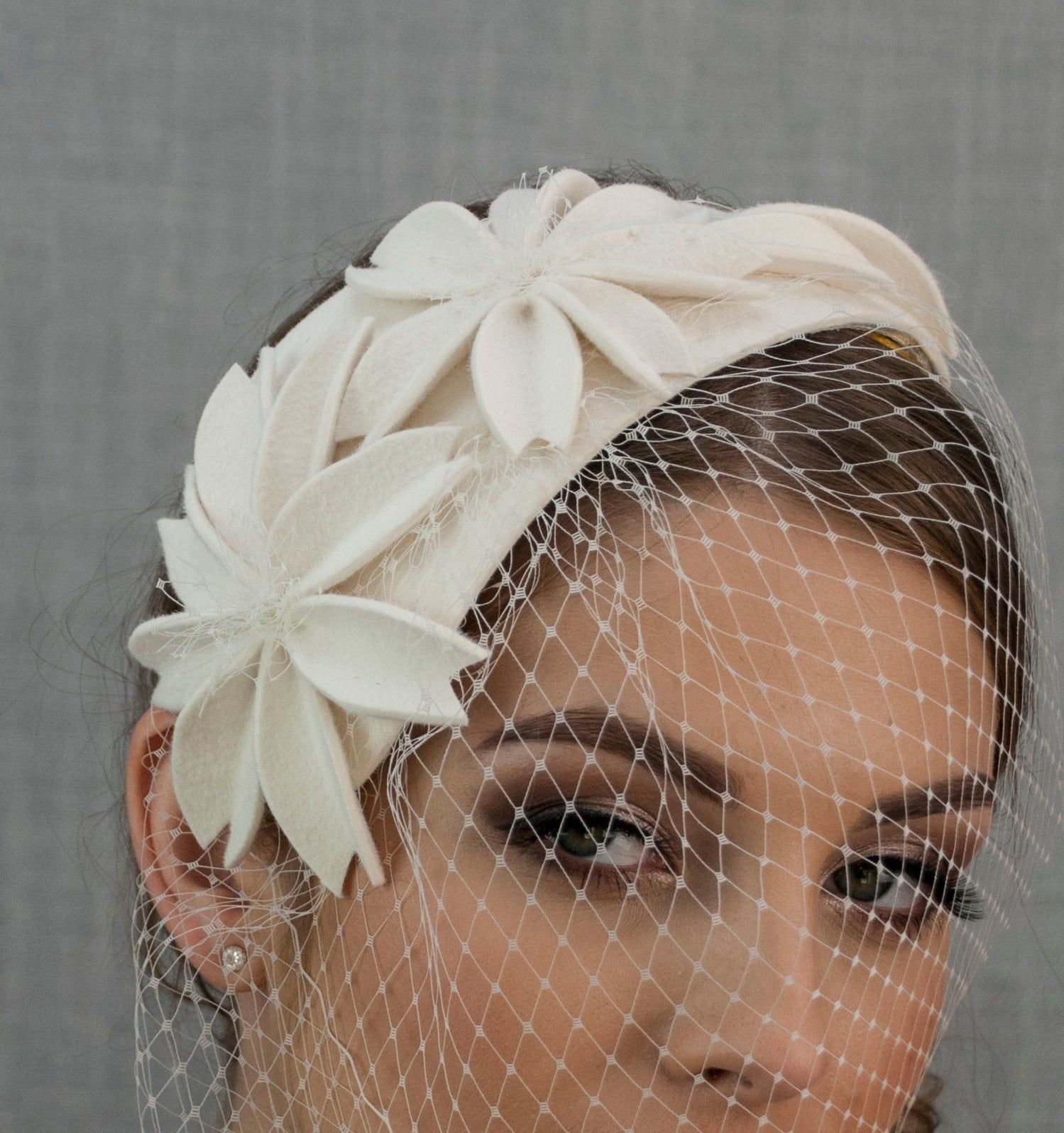 FACINATORS double ruffle flower   ON a HEADBAND in 5 colours