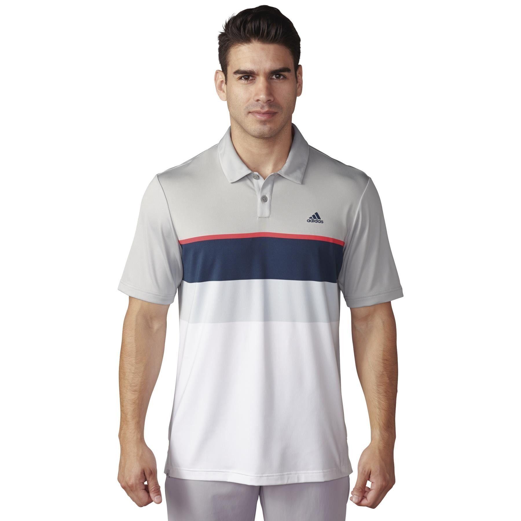 cheaper b27e5 256c0 Adidas Golf Shirts Engineered Striped Polo