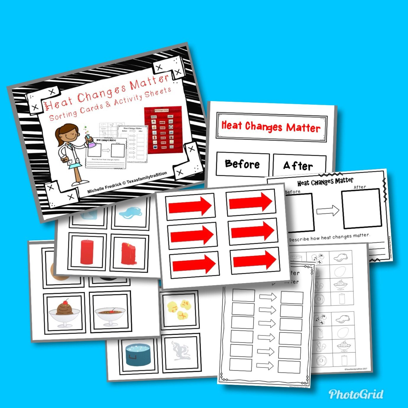 Heat Changes Matter Sorting Cards Amp Activity Sheets