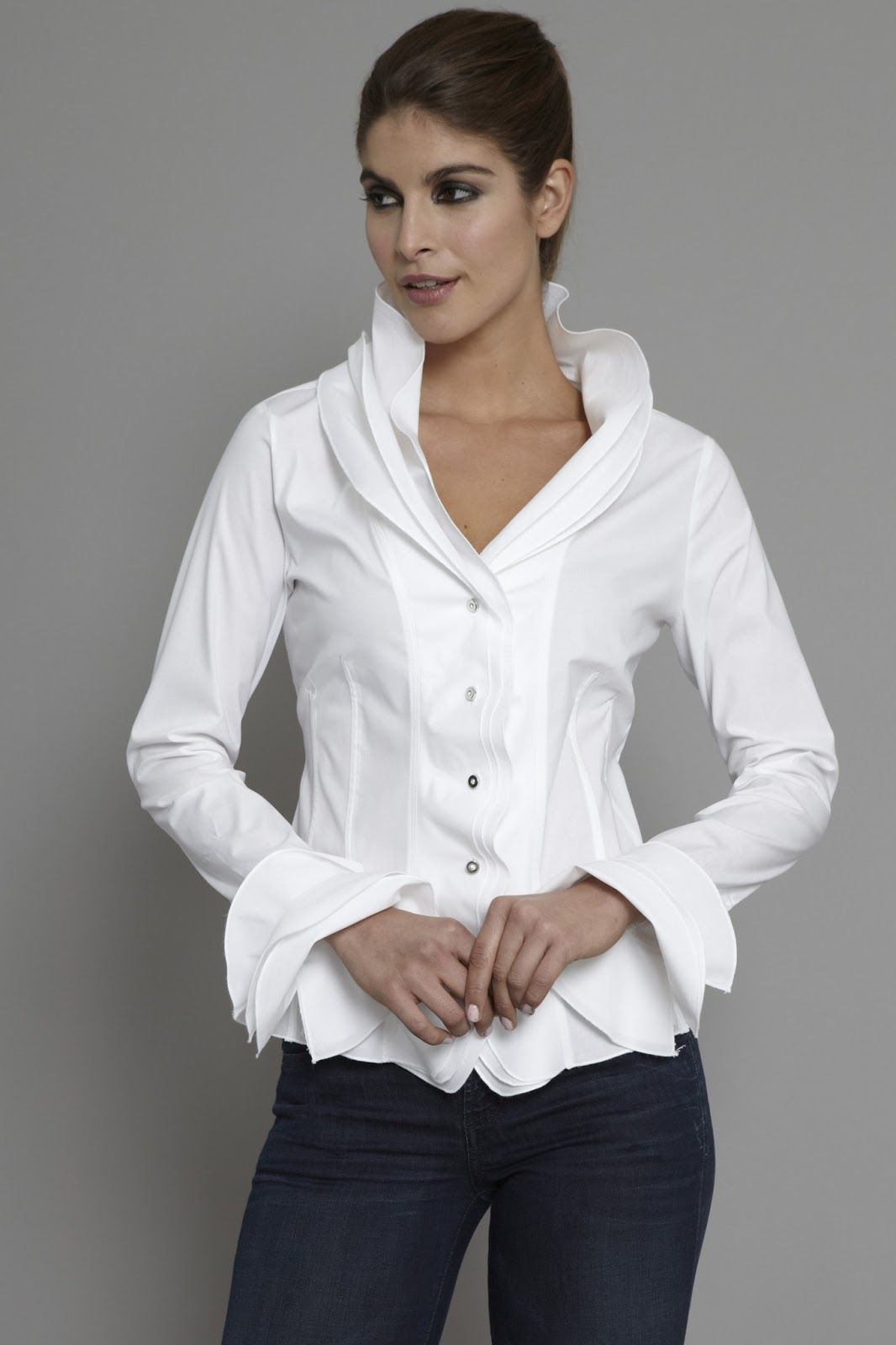 French Cuff Blouses For Women Www Topsimages Com