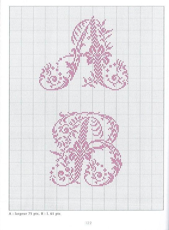 - belles lettres au point de croix - moimeme1.   Cross ...