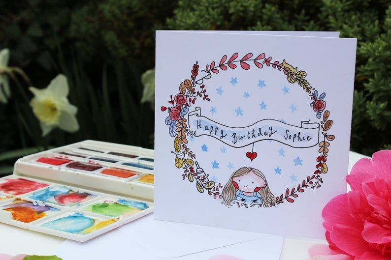 A Hand Painted Greeting Card The Perfect Unique And Original Gift