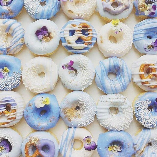 Blue doughnuts