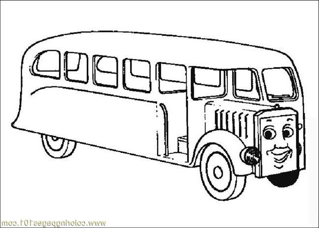Thomas The Train Bus Coloring Pages | download free printable ...