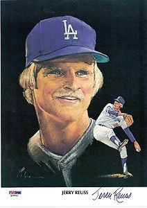 Jerry Reuss Autographed 1982 Union Oil Portrait Dodgers Psa Dna 29 99 Jerry Reuss Color Portrait 8 1 2 X 11 Autogra Dodgers Baseball La Dodgers Dodgers