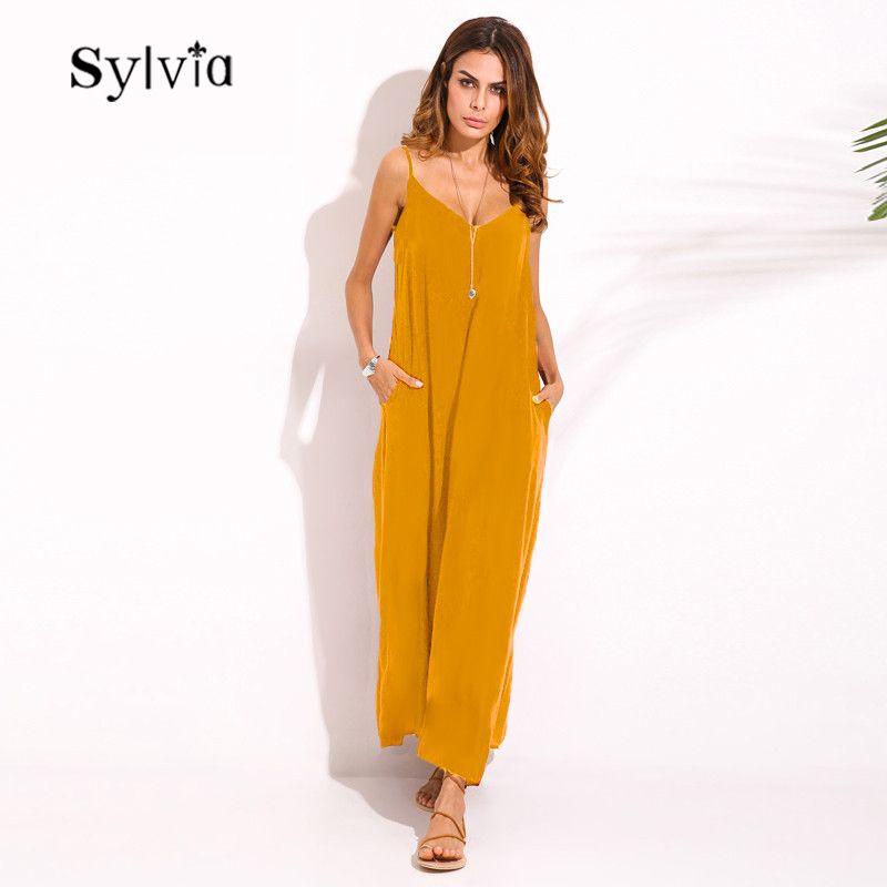 6d085dae5bf ZANZEA 2018 Summer Vestidos Women Dress Boho Strapless V-neck Sleeveless Baggy  Long Maxi Dresses