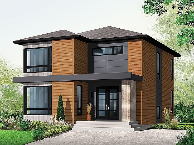 Custom House Plan By Drummondhouseplan. Dream House, Modern House, Luxury  House With Lots Of Windows, Garage #moderne #contemporain | Dream House ...