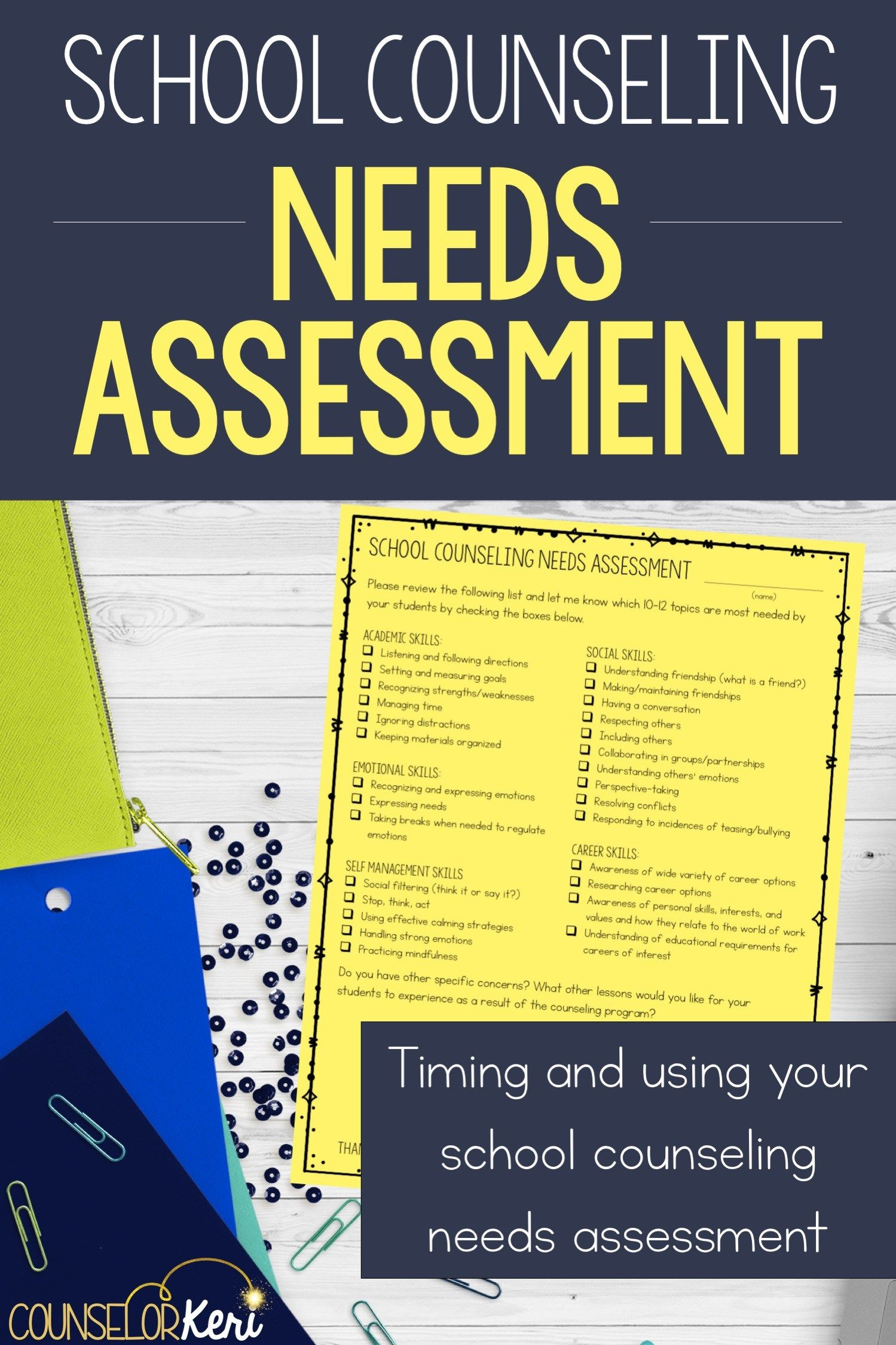 School Counseling Needs Assessment   Social Work and kids