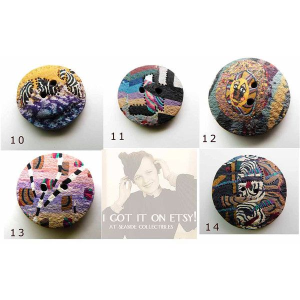 Individualist Accent Buttons Vintage Laurie Ann Moore Artist Signed... ($12) ❤ liked on Polyvore featuring jewelry, brooches, heart jewelry, vintage pins brooches, mod jewelry, vintage heart jewelry and vintage button jewelry