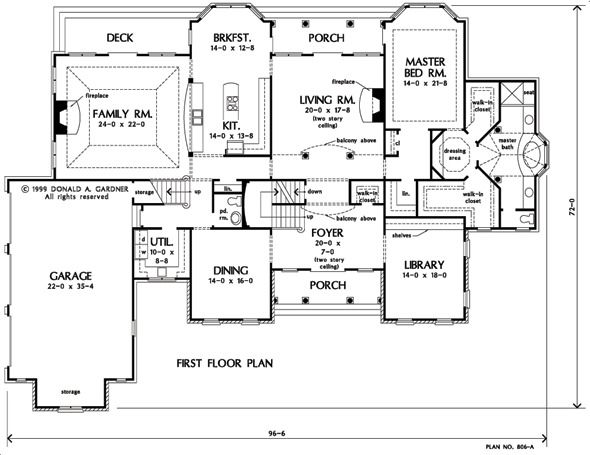 House Plan The Wedgewood By Donald A Gardner Architects