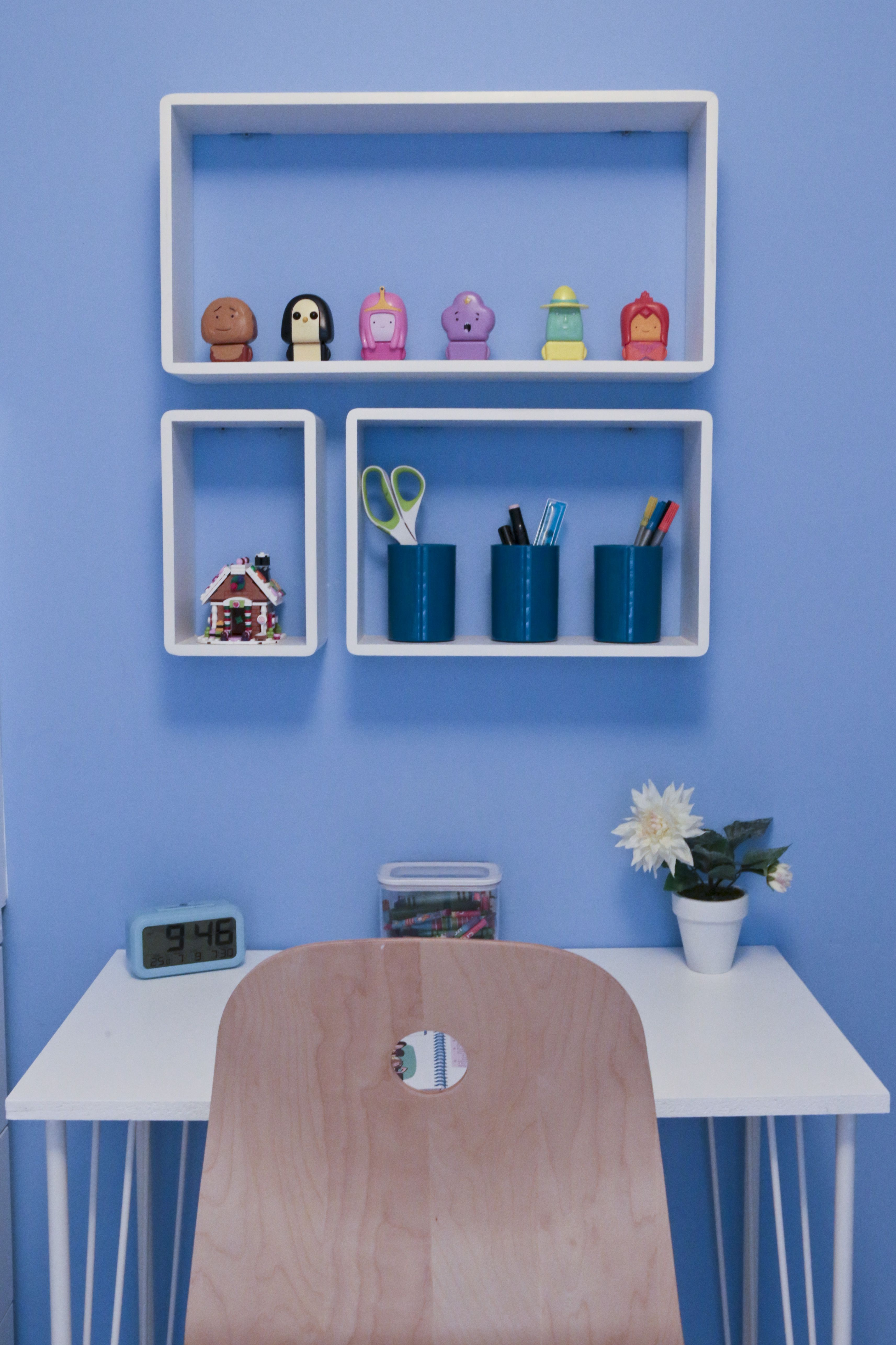 'Childrens Ikea Hack Bedroom makeover: Finishing touches Cube Shelves.  We've added