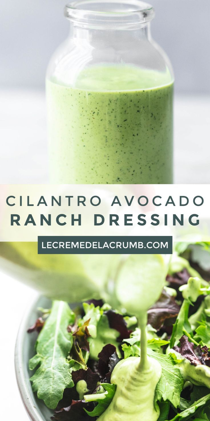 Cilantro Avocado Ranch Dressing
