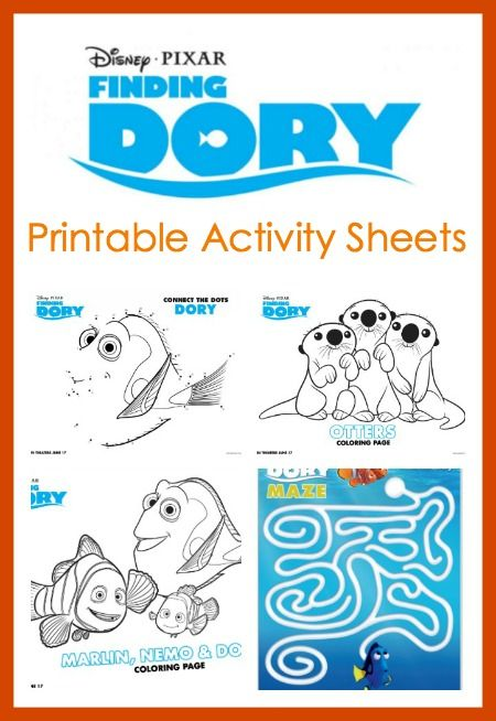 Finding Dory Printable Activity Sheets Finding dory, Maze puzzles - new pixar coloring pages finding nemo