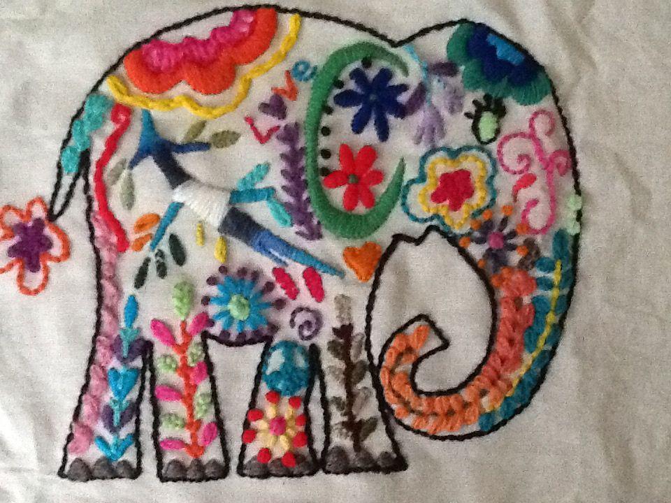 Elefante Bordado Patrones De Bordado Elefantes Bordados Bordado