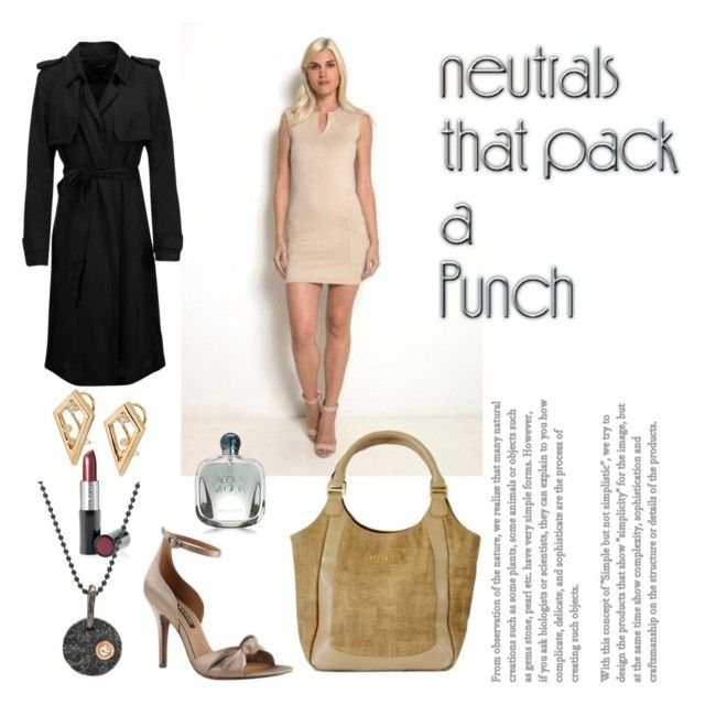 """Cool Neutrals"" by nosafashions ❤ liked on Polyvore featuring INC International Concepts, Mary Kay and neutrals"