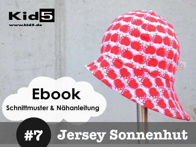 ☆ ebook JERSEY-SONNENHUT 4 Größen | Sonnenhut, Sonnenhüte und ...