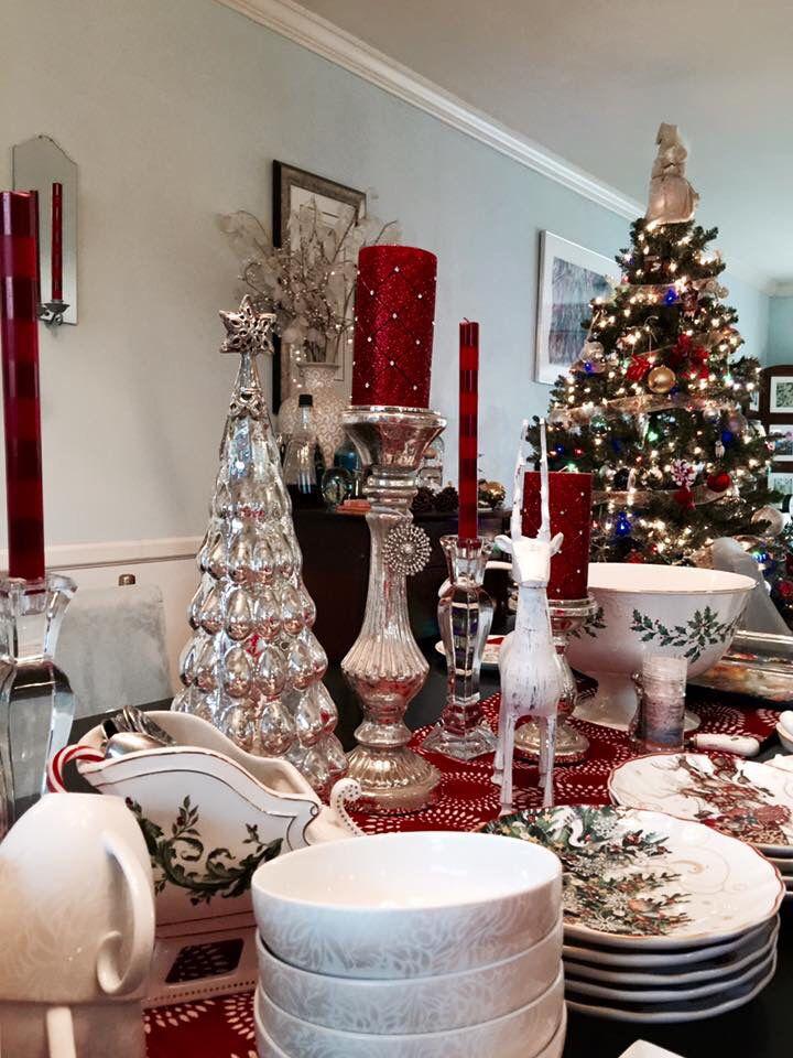 Wedgwood Addobbi Natale.Christmas Tablescape Williams Sonoma Lenox Wedgwood Waterford Spode Homegoods Taradkearns Natale