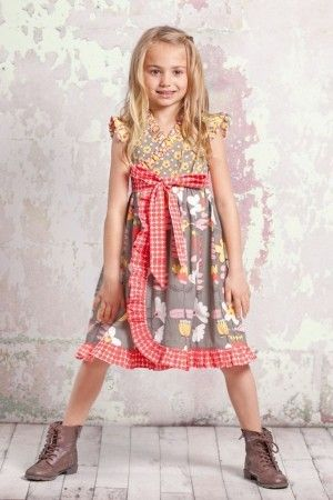 30e218c4c5b One Good Thread - Jelly The Pug - Misha Front Tie Dress - Indian Summer
