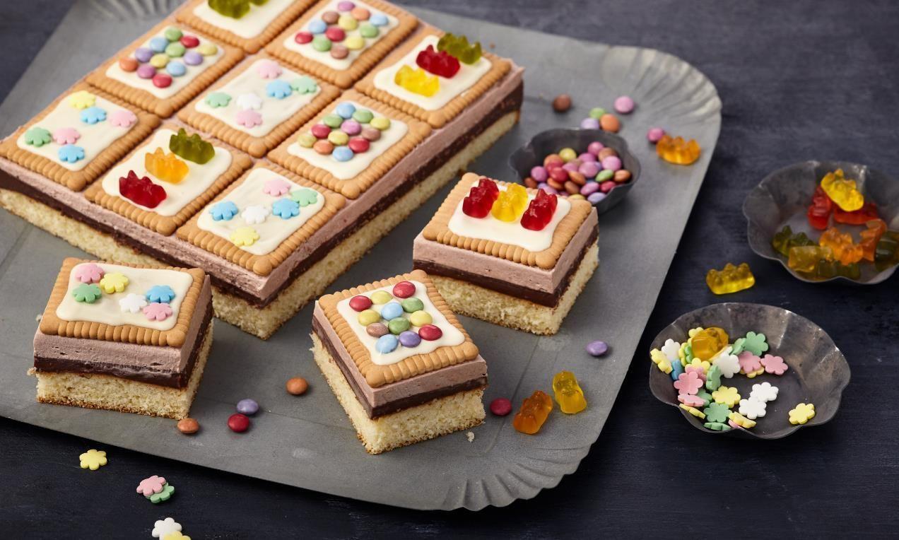 Ein Toller Kuchen Mit Butterkeksen Und Pudding Fur Kinder