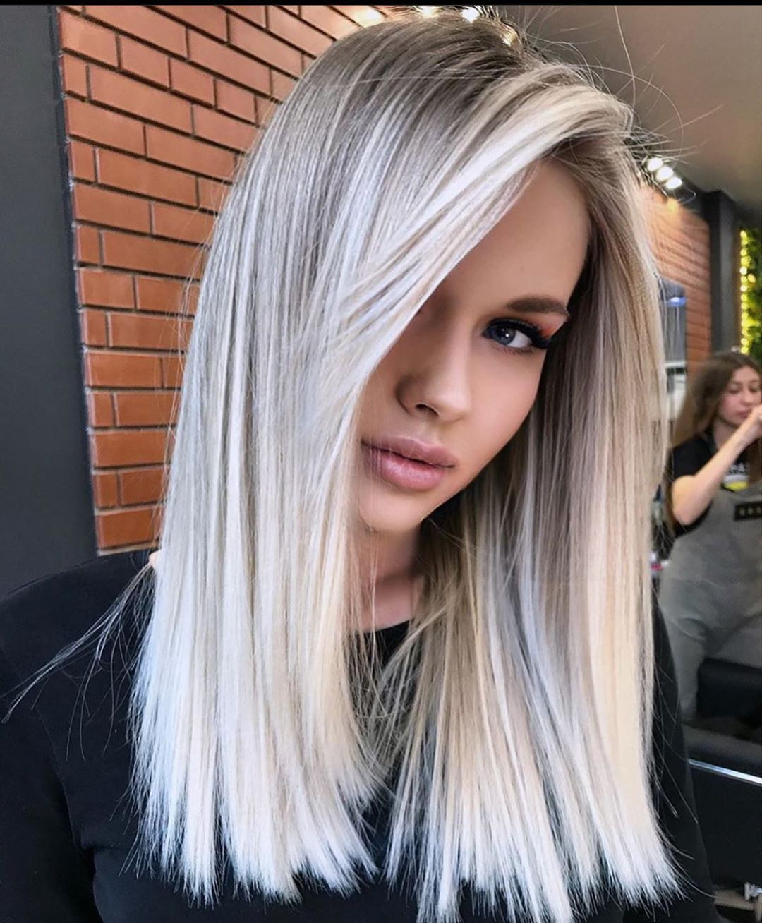 10 Medium Length Hairstyles And Color Switch Ups Medium Haircut 2021 In 2020 Gorgeous Hair Color White Blonde Hair Hair Styles